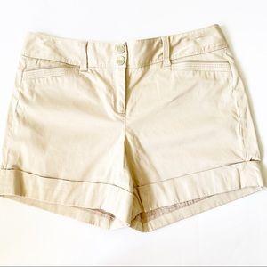 White House Black Market tan shorts